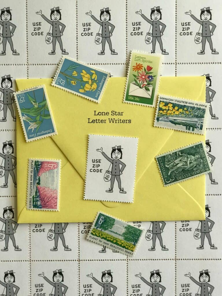 Lone Star Letter Writers Ms Zip stamps