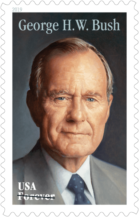 Upcoming June 12 Commemorative Forever Stamp Honoring former President George H.W. Bush Available for Preordering