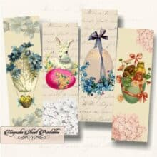 Printable Easter Bookmarks Vintage