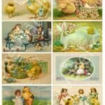 Digital Printable Antique Easter Postcards