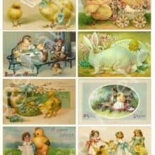 Digital Printable Antique Easter Postcards