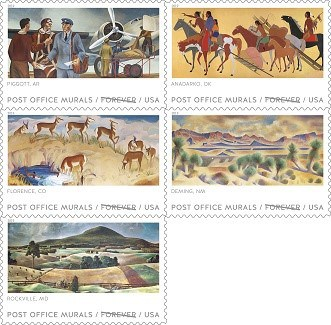 Post Office Murals Forever Stamps Debut Today