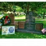 Memorial Day 2019 Remembrance Reflections - 26may19 WAA ceremonial wreath at TSC WWII Image