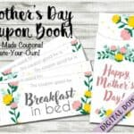 Mothers Day Coupon Book Printable