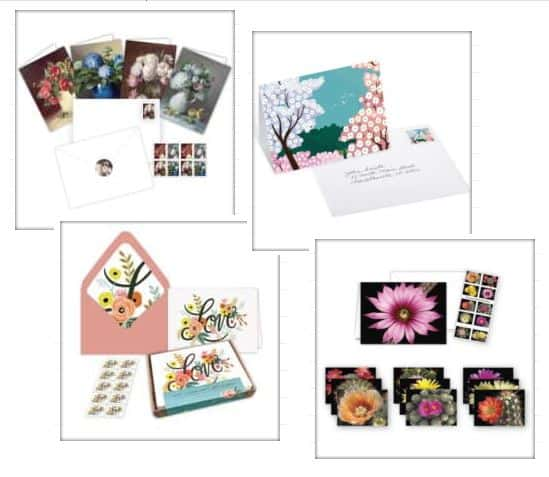 Mother's Day USPS stationery sets options