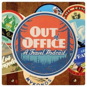 Out of Office A Travel Podcast Logo
