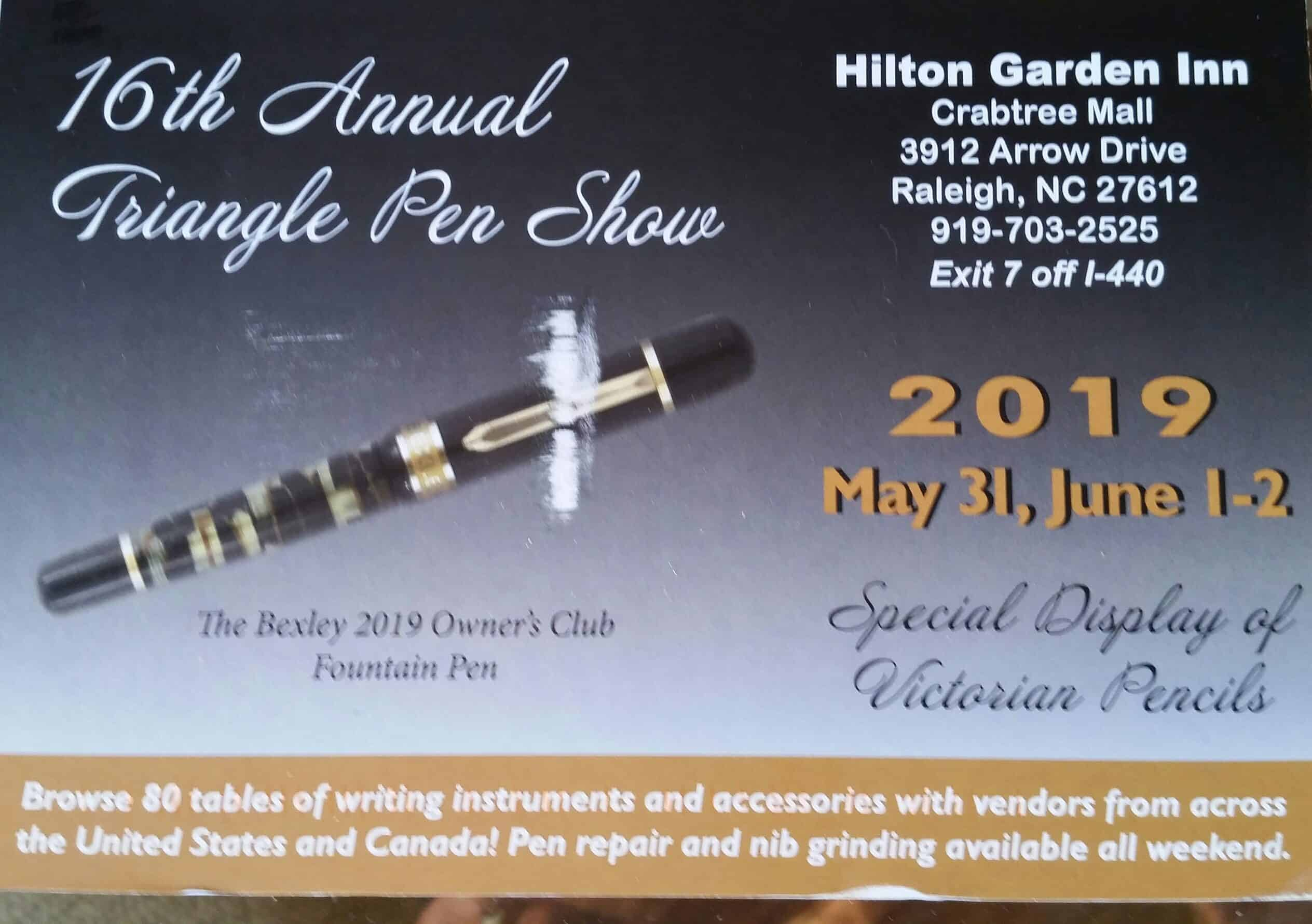 2019 Triangle Pen Show Postcard