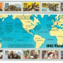USPS 1945 Victory at Last WWII Sheet of stamps
