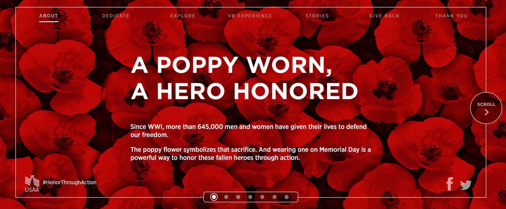 USAA Memorial Day Poppy Wall