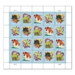 Coral Reefs Postcard stamps