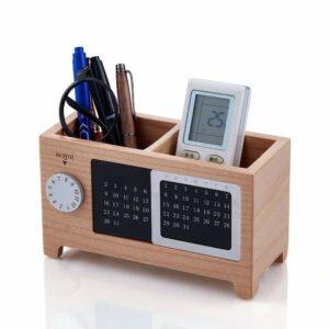 Artinova Wooden Office Desk Pen Pencil Holder Organizer