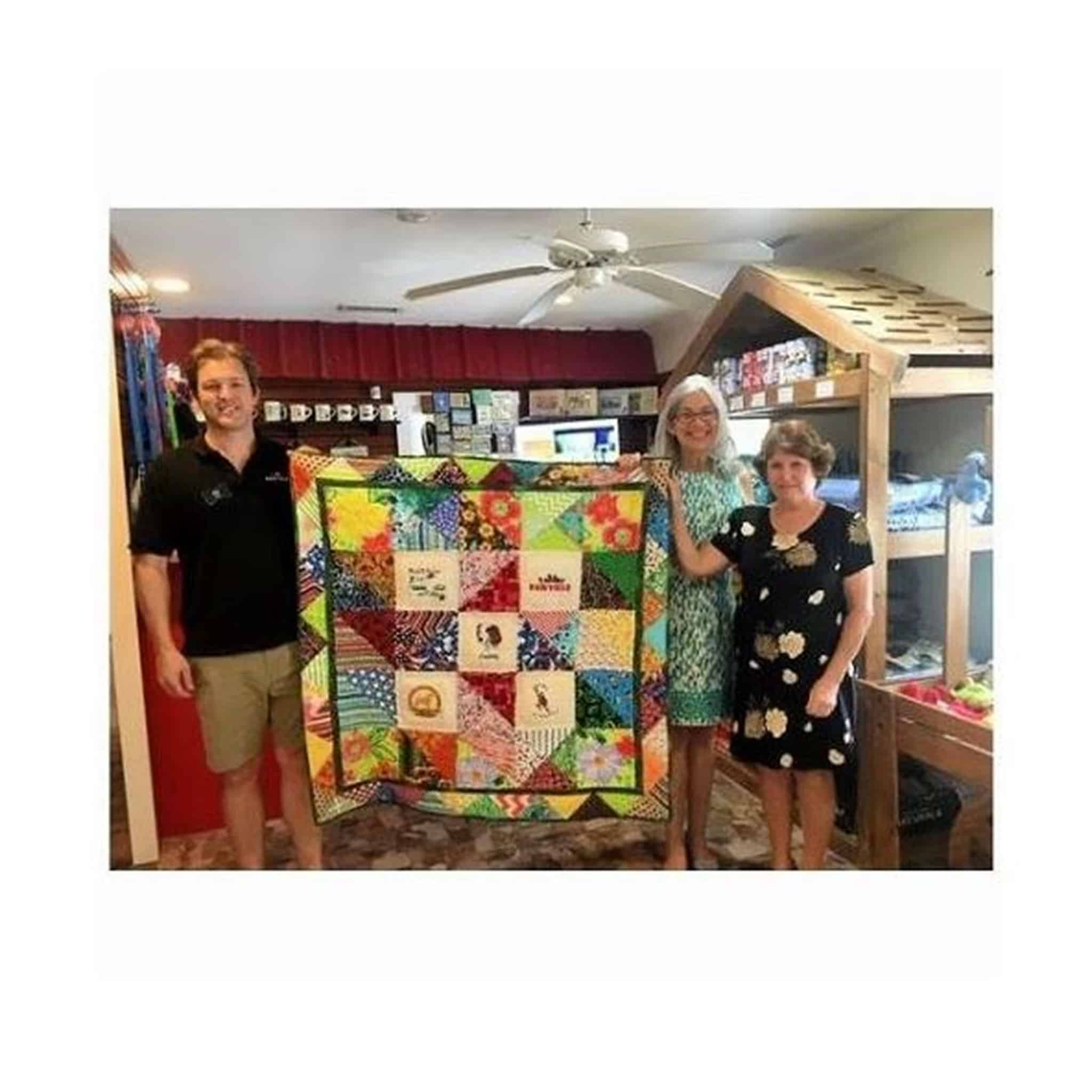 Celebrating presenting Cuddy's Pawville Quilt today