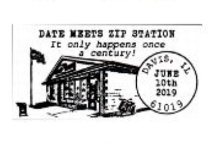 Date Meets Zip Pictorial Postmark 61019