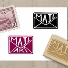OpenSpaceDesigns Envelope Mail Stamp & Mail Art Stamp
