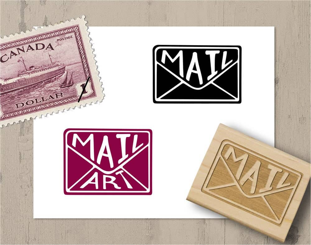 OpenSpaceDesigns Envelope Mail Stamp & Mail Art Stamp
