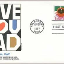 1987 22¢ Love You, Dad Father's Day First Day Covers