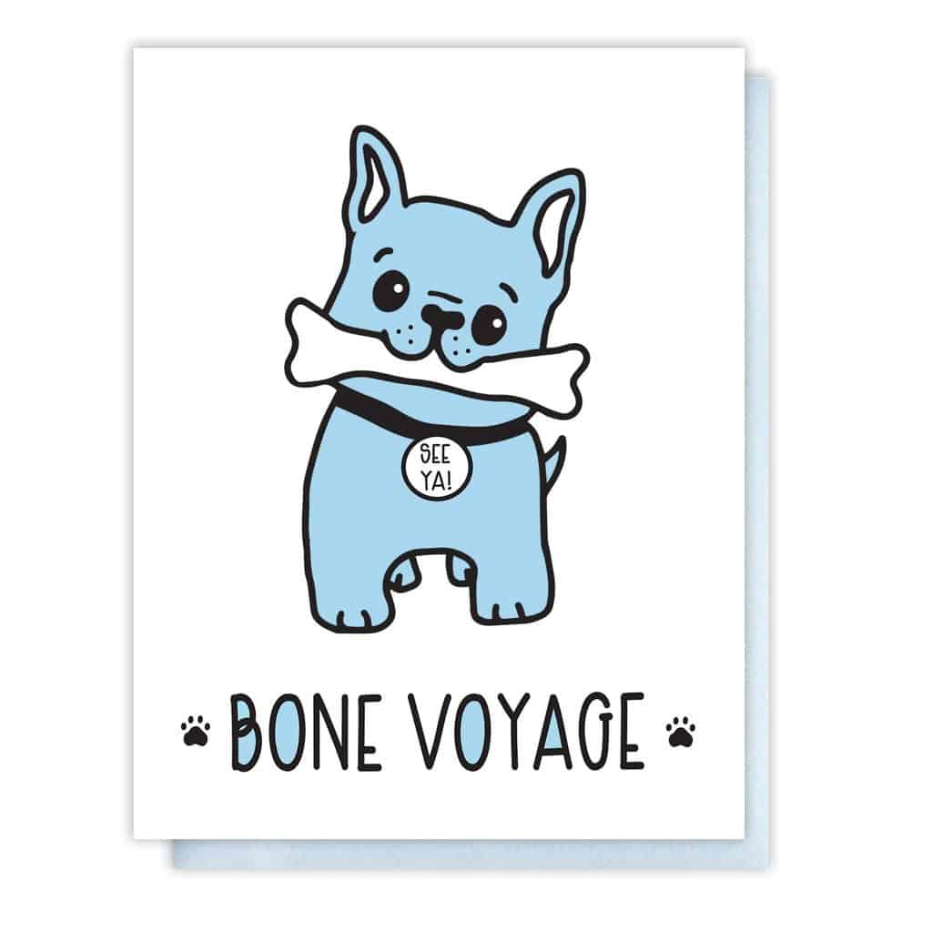 Kiss and Punch Designs Bone Voyage Letterpress Card