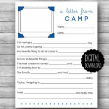 Luxeprarie Printable Summer Camp Stationery