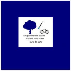 Pictorial Postmark Malvern Iowa Commemorative Sesquicentennial