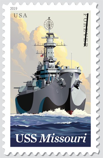 USS Missouri Forever 2019 Stamps Available