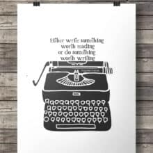 Benjamin Franklin Quote Vintage Typewriter printable