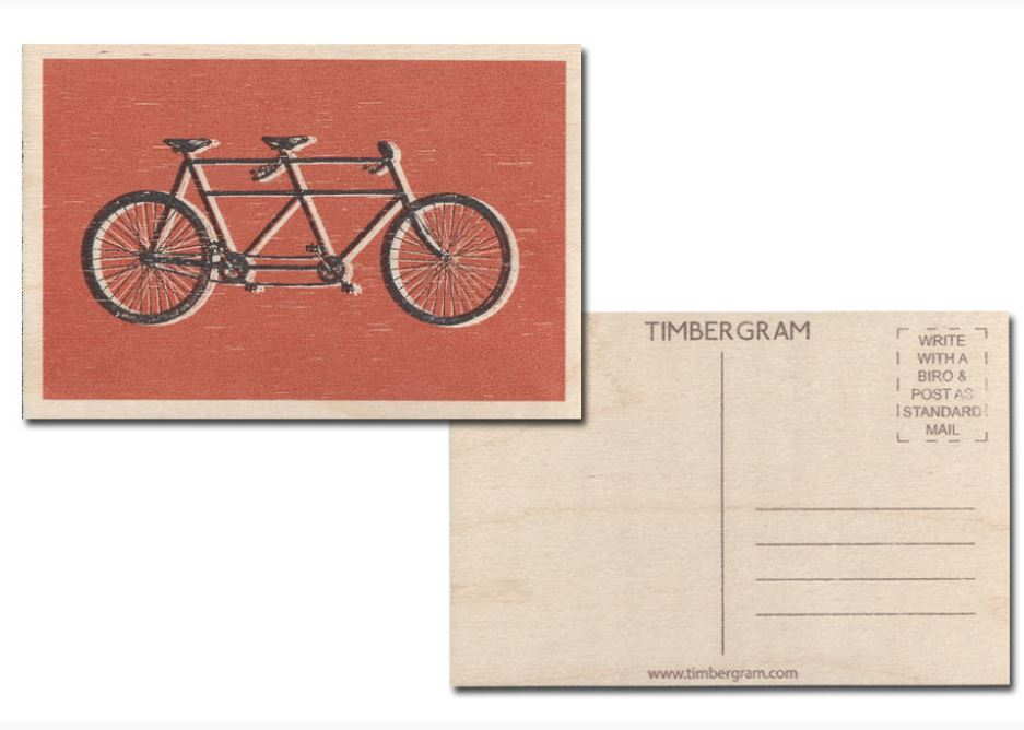 CycleMiles Bicycle Greeting Cards Includes Tandem Timbergram PostCard