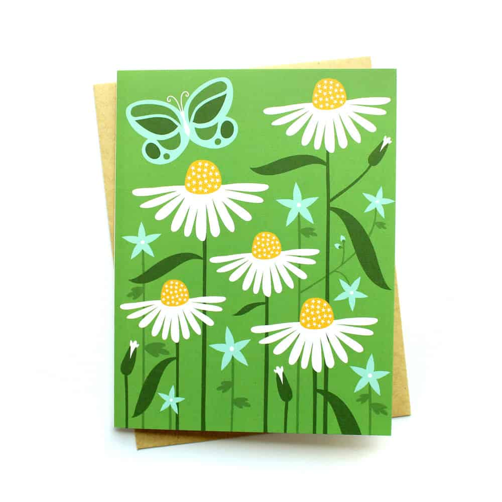 Heather Klinger Flower Meadow blank Greeting Card