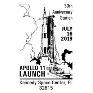 Apollo 11th Launch 50th Anniversary Pictorial Cancellation