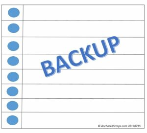 Reminder on Making Time for Backups