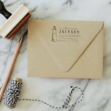 SubstationPaperie Return Address Lighthouse Stamp