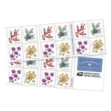 Upcoming USPS Winter Berries Forever Stamps