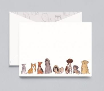 CRANE Dogs Note Stationery Notecards among designs in New Elevate the Everyday Boxed Stationery Collection