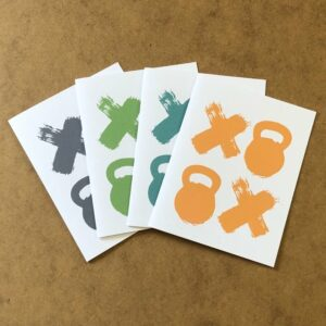 Fitness Sports Workout X0X0 Thank You Cards