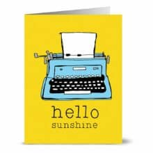 Hello Sunshine Typewriter Note Cards