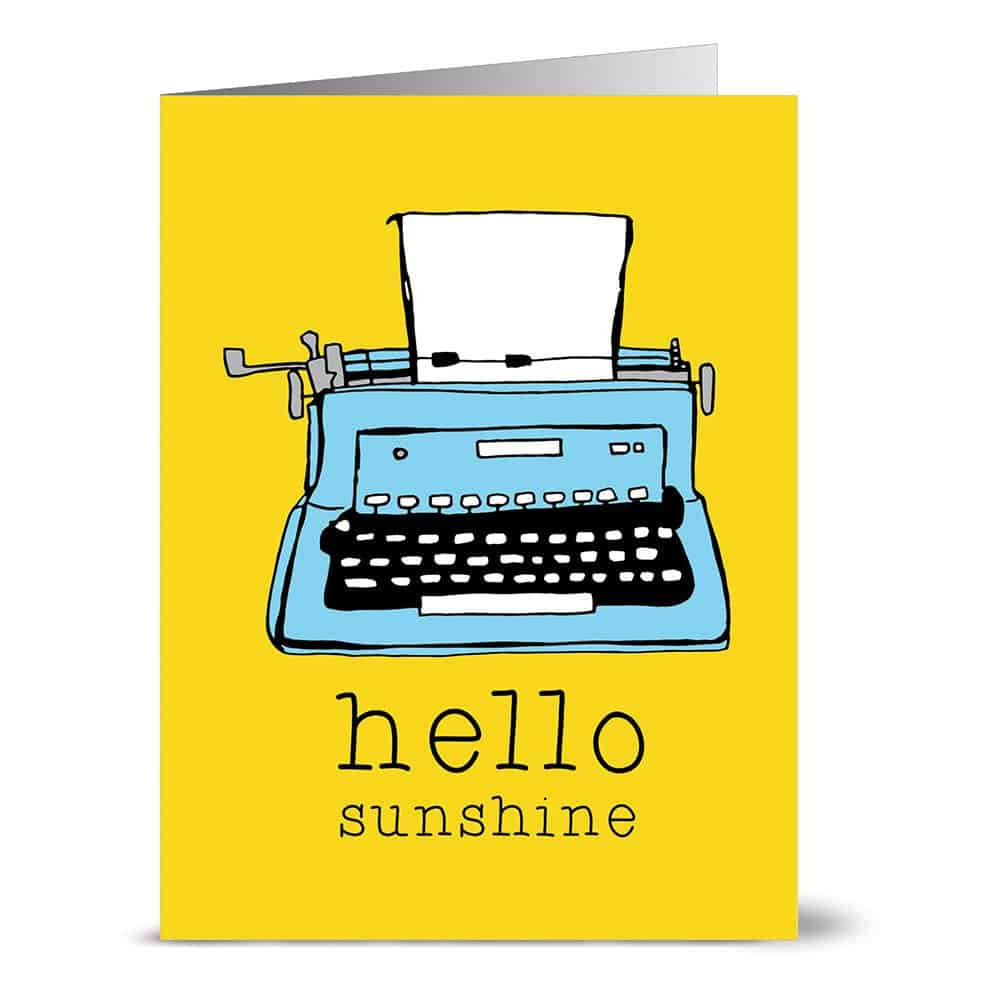 Hello Sunshine Typewriter Note Cards
