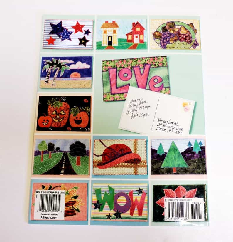 Quilt Designs for Postcards Carol Mansfield Book