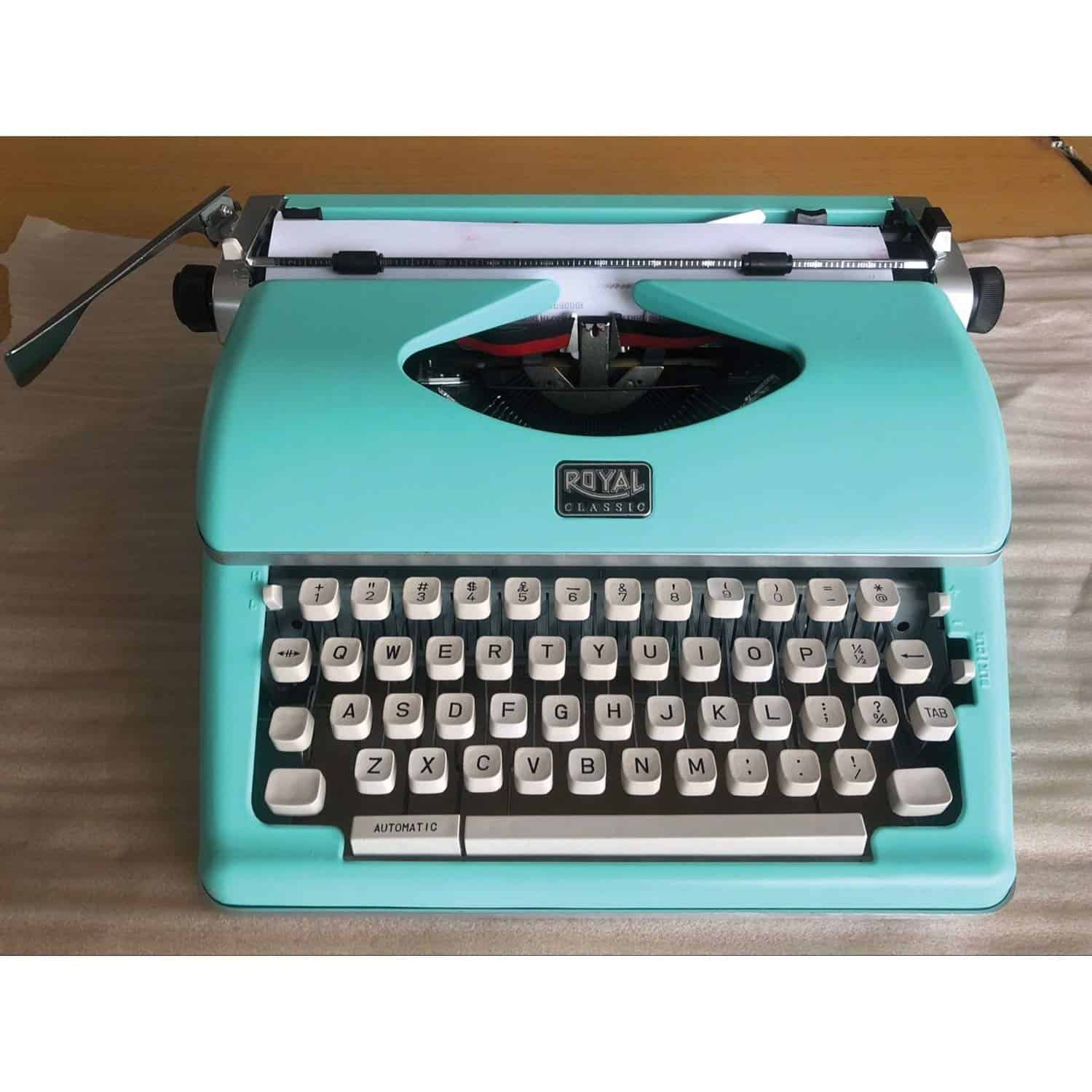 Royal Retro Classic Manual Typewriter Mint Green