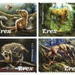 Numerous T-Rex Pictorial Postmarks Celebrating 2019 Tyrannosaurus Rex Forever Stamps