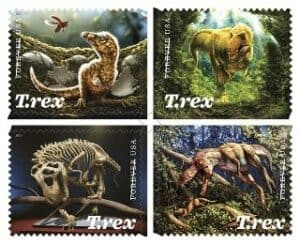 NUSPS 2019 Tyrannosaurus Rex Forever Stamps