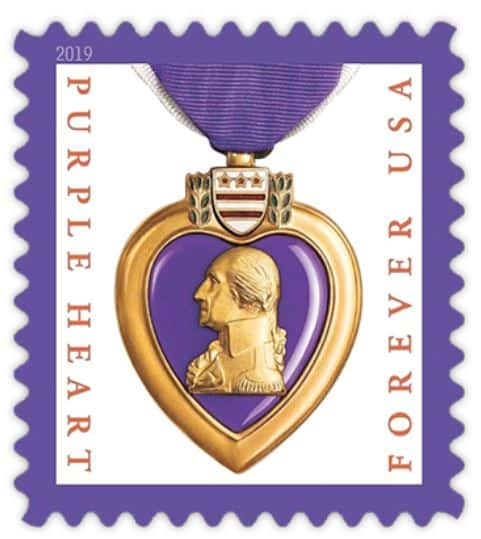 Upcoming USPS Purple Heart Forever 2019 Stamp
