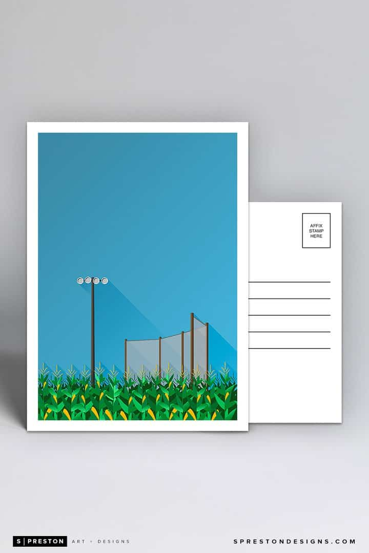Field of Dreams Park Minimalist Art Postcard Set