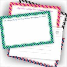 American Stationery Old Style Candy Stripe Postcards Box Set