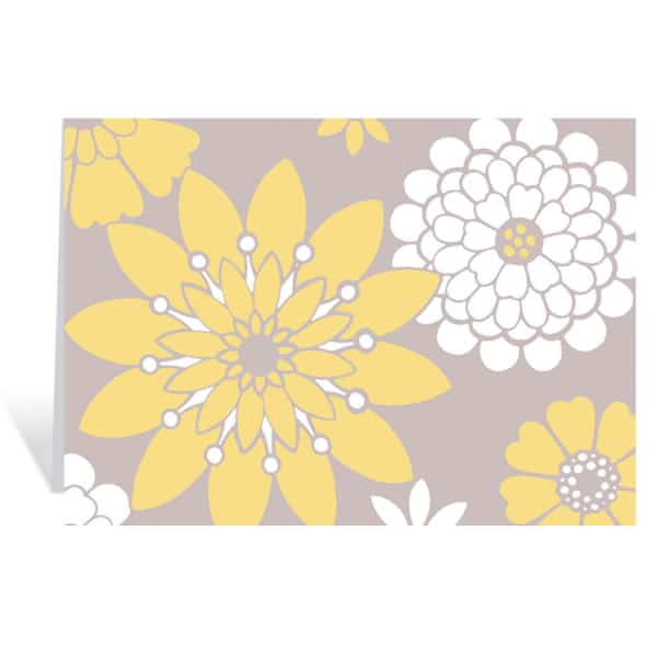 Stylized Daisy Notecards Stationery On Sale