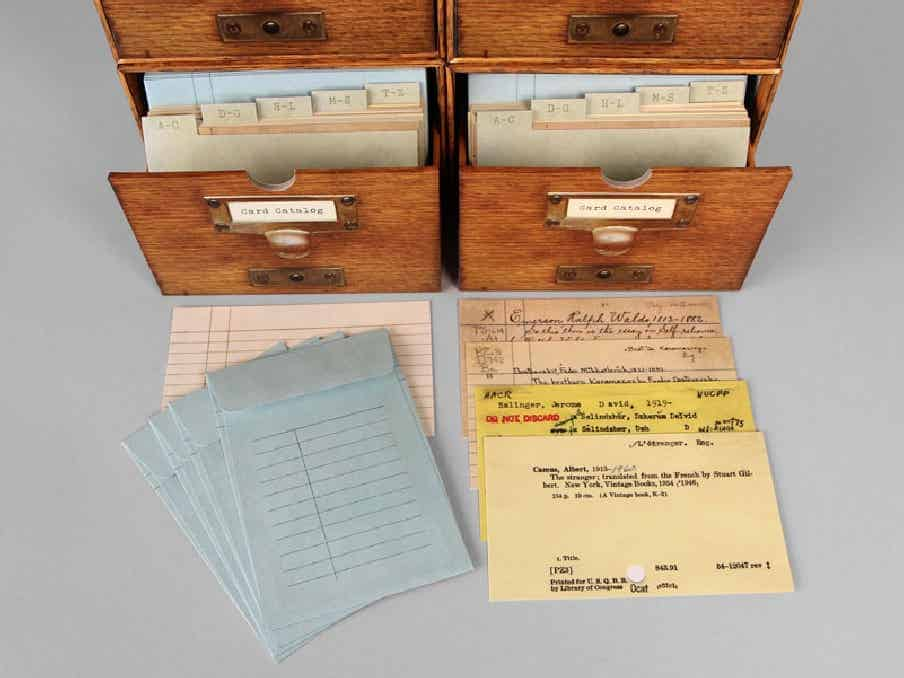 Card Catalog Stationery – 30 Notecards from the Library of Congress