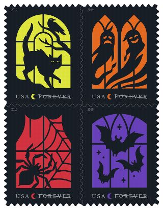 Spooky Silhouettes Stamps Arriving October 11, 2019 (and check out the U.S. Mail Carrier Dog Costume – New!)