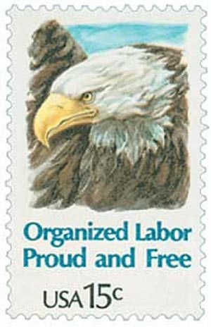 Happy Labor Day 2019 – Looking at 1980 Organized Labor Stamp 15¢