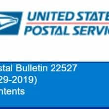 Last Call USPS Withdrawing Items Effective 2019 September 30 from Regular Sale