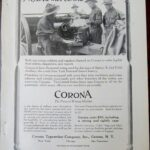 WWI 1916 Corona Typewriter Magazine Advertisement