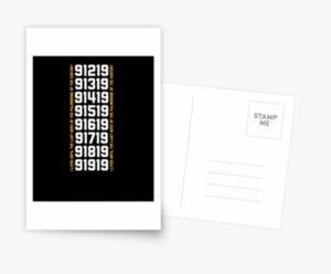 Redbubble Greeting Card Last Palindrome week in the Century t shirt Stationery