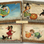 AVArtDecor Vintage Halloween Cards Printable